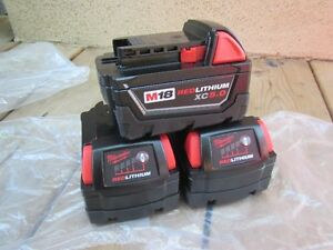 milwaukee m18 5.0 batteriesx3 NEW