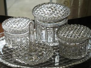 Vintage-An-attractive-cut-glass-Dressing-Table-set