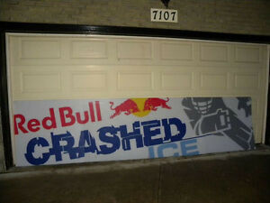 Red Bull Crashed Ice Sign - great condition