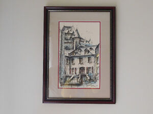 Watercolour on Ink Painting from 1969 Signed by Andre Desj Kitchener / Waterloo Kitchener Area image 2
