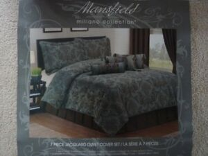 Duvet Cover Set- 7 Pc. Mansfield Collection Jacquard