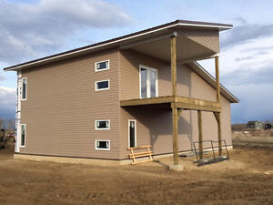 Double Garage with Attached Living Quarters at Lucien Lake
