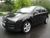 08/57 FORD FOCUS 1.6 TITANIUM 5DR HATCH IN MET BLACK WITH SERVICE HISTORY