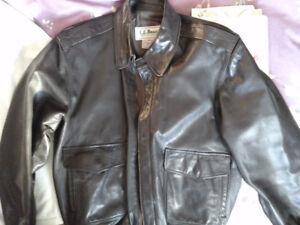 Men's leather bomber jacket from ll bean