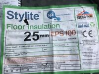 Floor insulation new packs of boards.