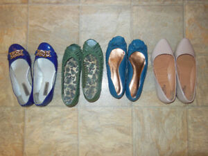 Women 8 1/2 -9 summer style ballet flats lightly used $20