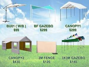 Outdoor furnitures umbrella gazebo canopy fence tent marquee Richlands Brisbane South West Preview