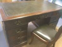 Regency desk and chair