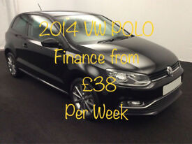 £165.21 PER MONTH - 2014 VOLKSWAGEN POLO 1.0 SE DESIGN MANUAL PETROL 3 DOOR