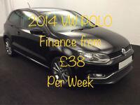 £165.21 PER MONTH - 2014 VOLKSWAGEN POLO 1.0 SE DESIGN MANUAL PETROL 3 DOOR