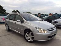 2005 - 05 Peugeot 307 2.0 Hdi SW Quicksilver (136) Estate, PANORAMIC ROOF!!