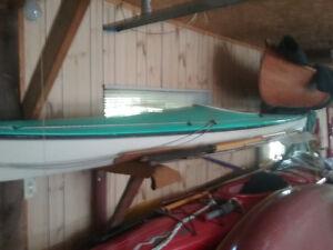 kayak   vibre de verre norvégien   à vendre