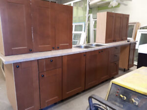 KITCHEN CABINETS FROM IKEA COUNTER TOP AND DOUBLE SINK