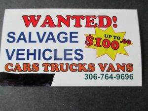 WANTED TO BUY SALVAGE VECHICLES