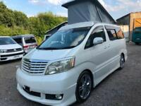 2003 TOYOTA ALPHARD 2.4 PETROL 4 BERTH POP TOP CAMPERVAN NEW SIDE CONVERSION LPG