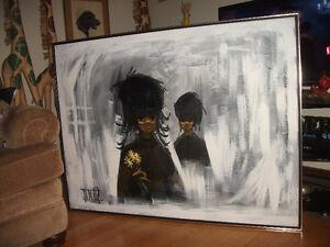 Huge painting original artwork signed james. smoke free home.
