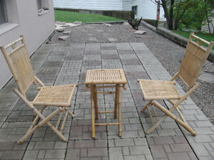 Bamboo chairs & table