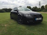 Audi A3 1.9TDI SPORT 3 DOOR BLACK LEATHER 2006 56 NEW MOT HPI CLEAR