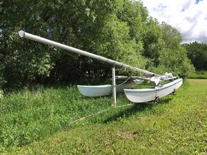 16' Hobby Cat  Sail Boat