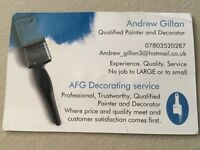 Qualified Painter and decorator