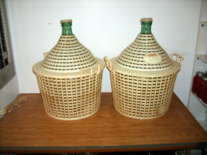 Demijohns/damejeannes for sale/a vendre