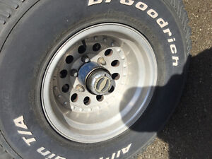 33x12.50 R15 BFgoodrich all terrain tires with rims