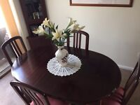 Dining Room table with 4 Chairs and Corner display unit