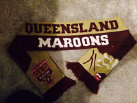 QLD MAROONS LARGE LOGO KNITTED SCARF QUEENSLAND