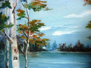 "Original Oil Painting by Mrs. Jack Douglas ""Owen Sound"" 1950 Stratford Kitchener Area image 3"