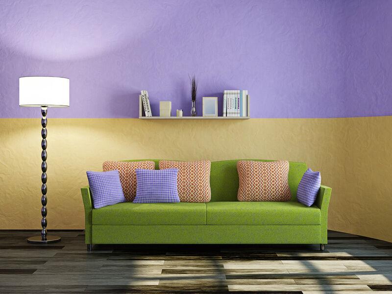 einrichtungstipps: wie man mit wandfarbe die raumatmosphäre ... - Gelb Grn Wandfarbe