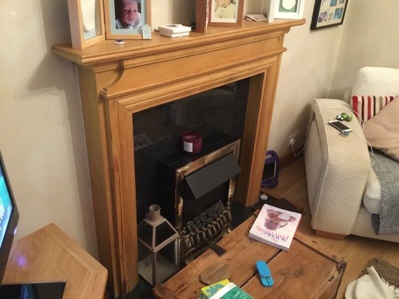 Wood Fireplace Surround