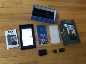 "Sky Devices Elite 5.5"" Unlocked Cell Phone, 3GB RAM,16GB HD, Gre"