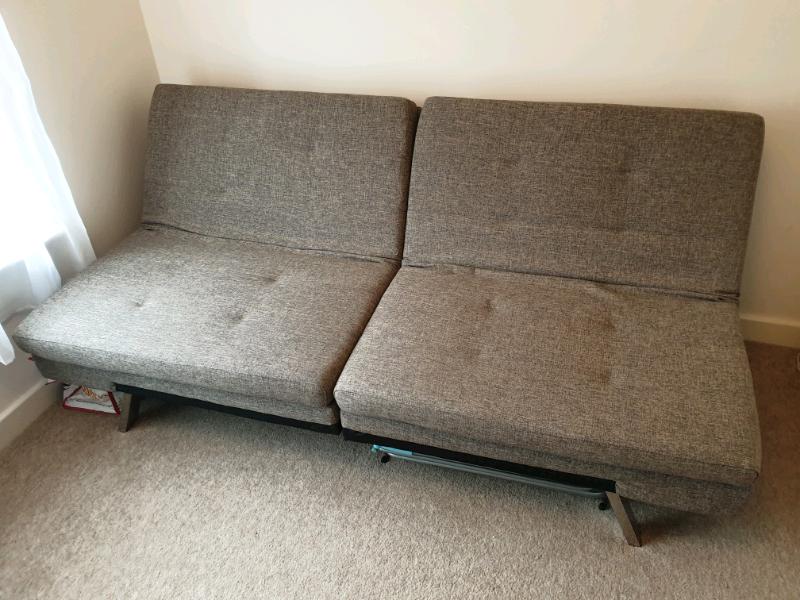 Strange Futon Sofa Bed Grey In Hersham Surrey Gumtree Machost Co Dining Chair Design Ideas Machostcouk