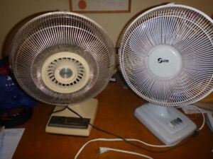 2 Table Top Fans for Sale