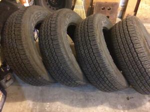 Set of tires 275/65/18