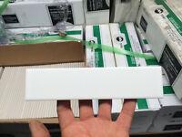 CERAMIC TILES 2X8 WHITE POLISHED - WHITE 12X12 SHEETS OF MOSAICS