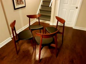 Mid Century Modern Teak Dining Chairs