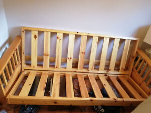 Solid pine futon couch
