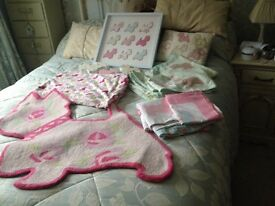 Next girls bedding plus picture and mat