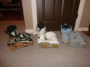 3 Pairs of Womens Snowboard Boots