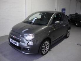 Fiat 500 1.2 S ( 69bhp ) ( s/s ) 2015, Grey, 17000 Mls FSH, One Owner, £30 Tax
