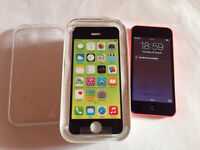 Apple iPhone 5c pink 8GB unlocked to any network boxed