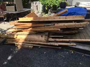Construction lumber left over