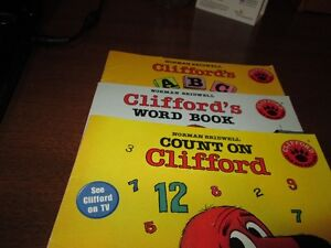 Set of Clifford the dog books (ages 5-7)