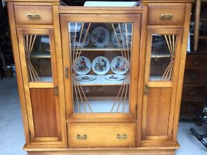 Vintage solid wood Hutch