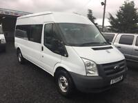 Ford TRANSIT 140 bhp T370 15 seater RWD 2009 59 Reg only 75554 miles 1 owner