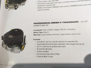 Briggs 24hp 1-1/8 vertical shaft engine