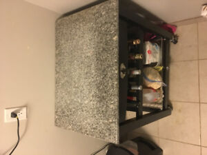 Kitchen Island and wine rack for sale