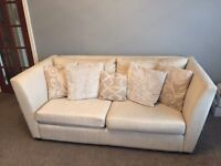 4 Seater sofa and footstool with pull out bed