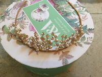 Gold coloured tiara